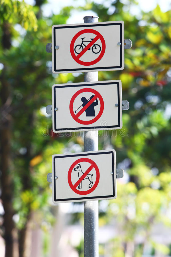 Download Warning sign stock photo. Image of prohibit, disallow - 27296578