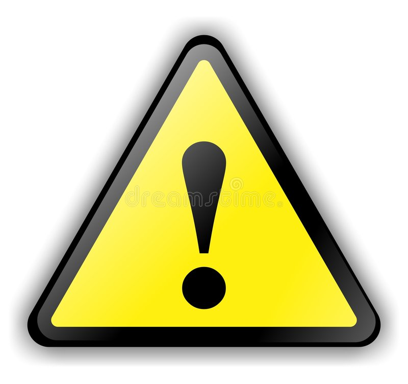Download Warning Sign stock illustration. Image of exclamation - 8735635