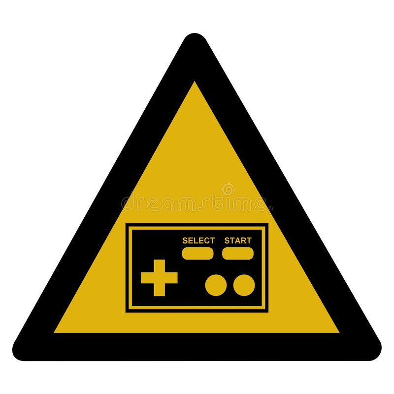 Download Warning sign - arcade stock illustration. Image of blank - 7573032