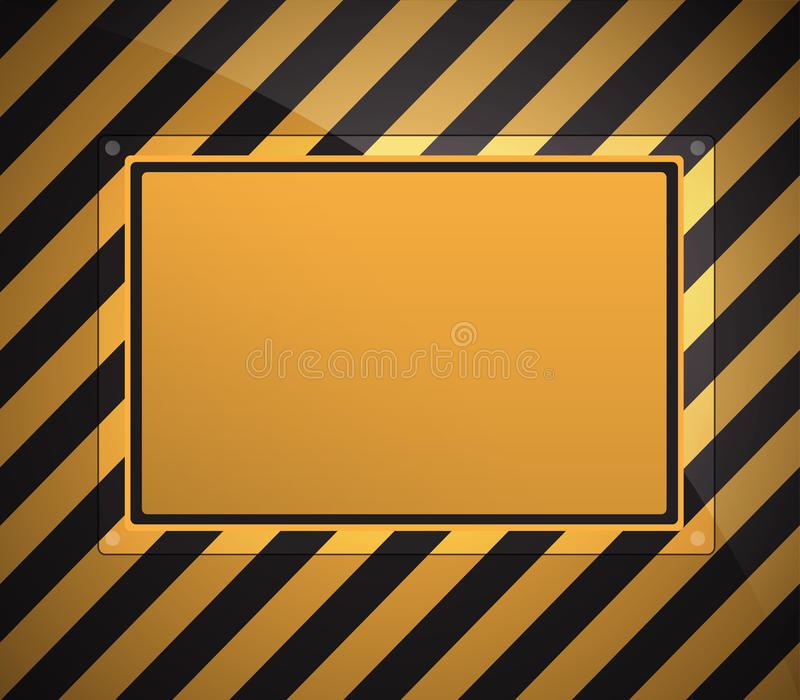 Download Warning sign background stock vector. Image of ripped - 26851285