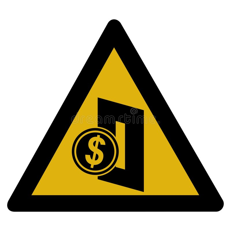 Download Warning Sign - Coin Op Stock Photos - Image: 7573033