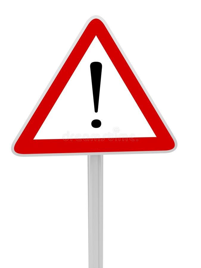 Warning sign danger stock image