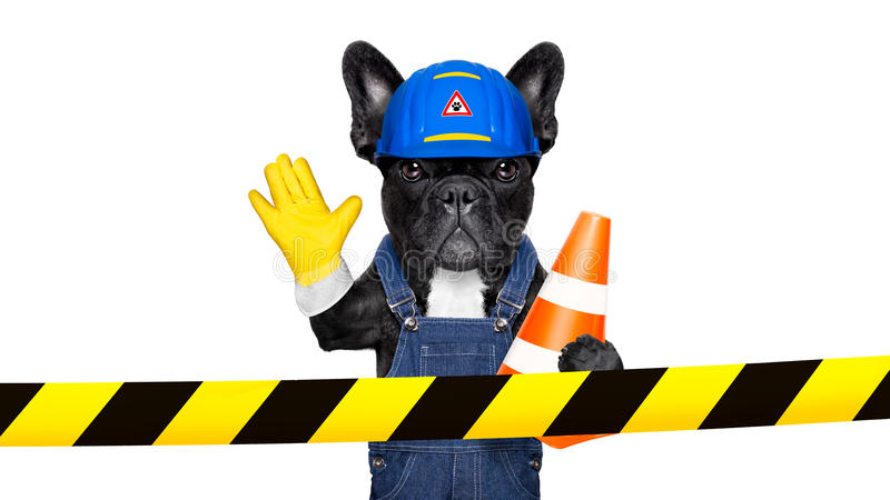 Warning sign dog royalty free stock photo