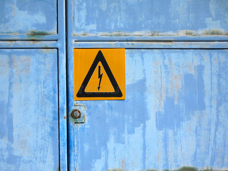 Warning sign: High voltage royalty free stock images