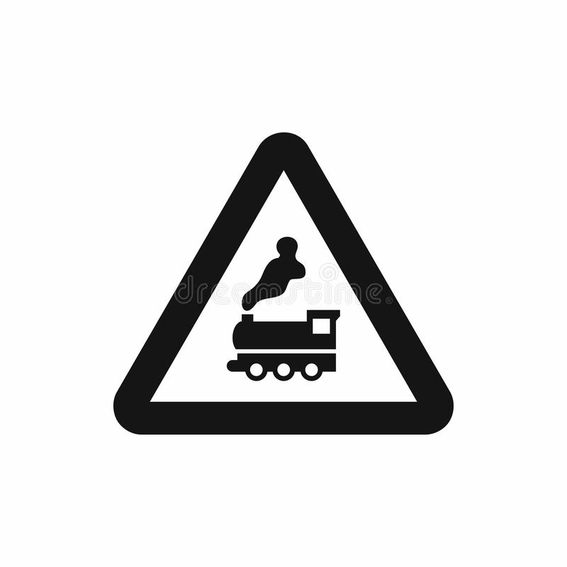 Free Warning Sign Railway Crossing Without Barrier Icon Stock Photos - 80479643