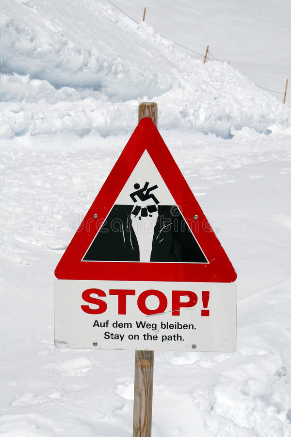 Warning sign on the route royalty free stock photo