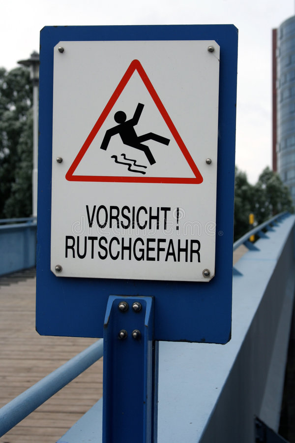 Download Warning Sign: Slippery Ground Stock Image - Image: 626913