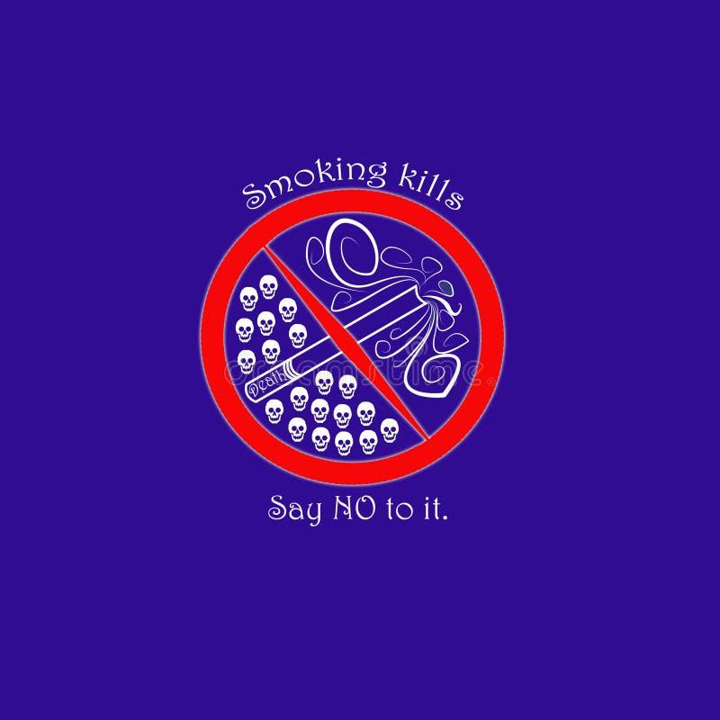 Warning sign:smoking kills royalty free stock photography