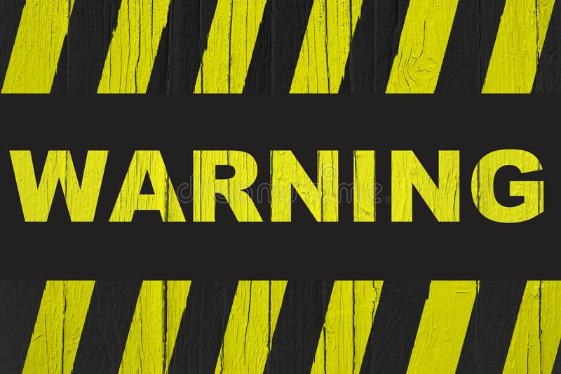 Download Warning Sign With Yellow And Black Stripes Painted Over Cracked Wood Stock Photo - Image of interrupted, danger: 104063294