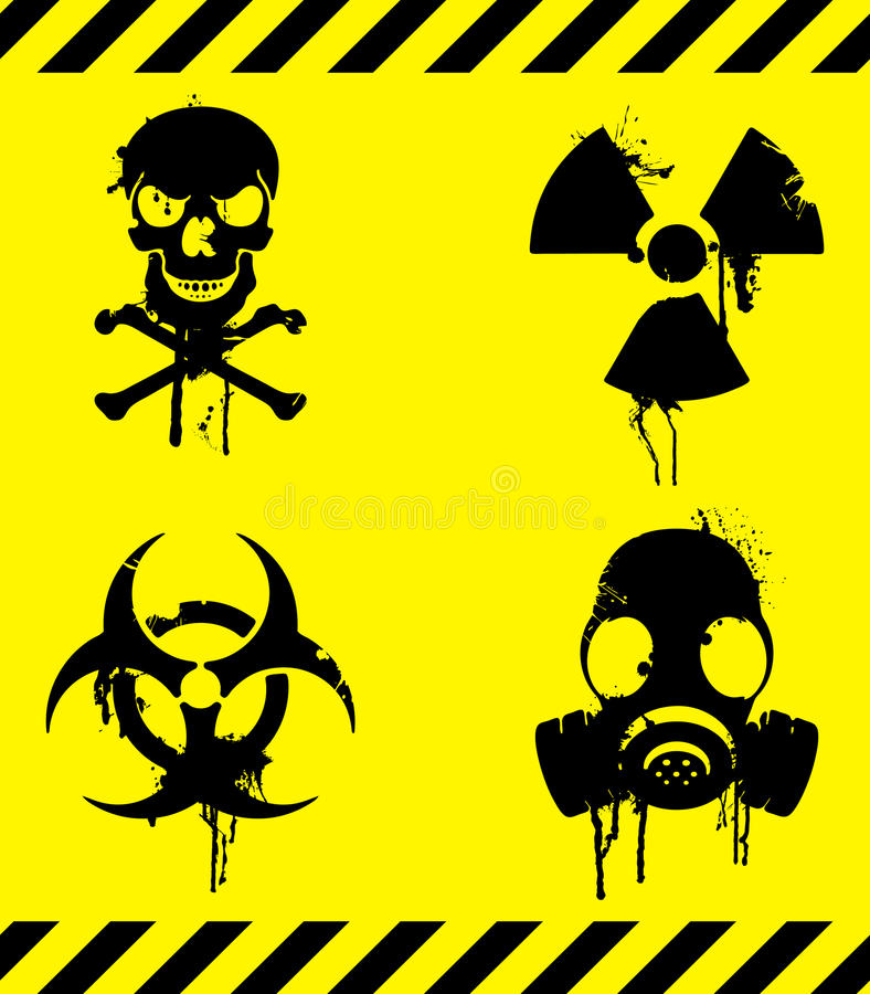Download Warning signs. stock vector. Image of dirty, mask, image - 13581976