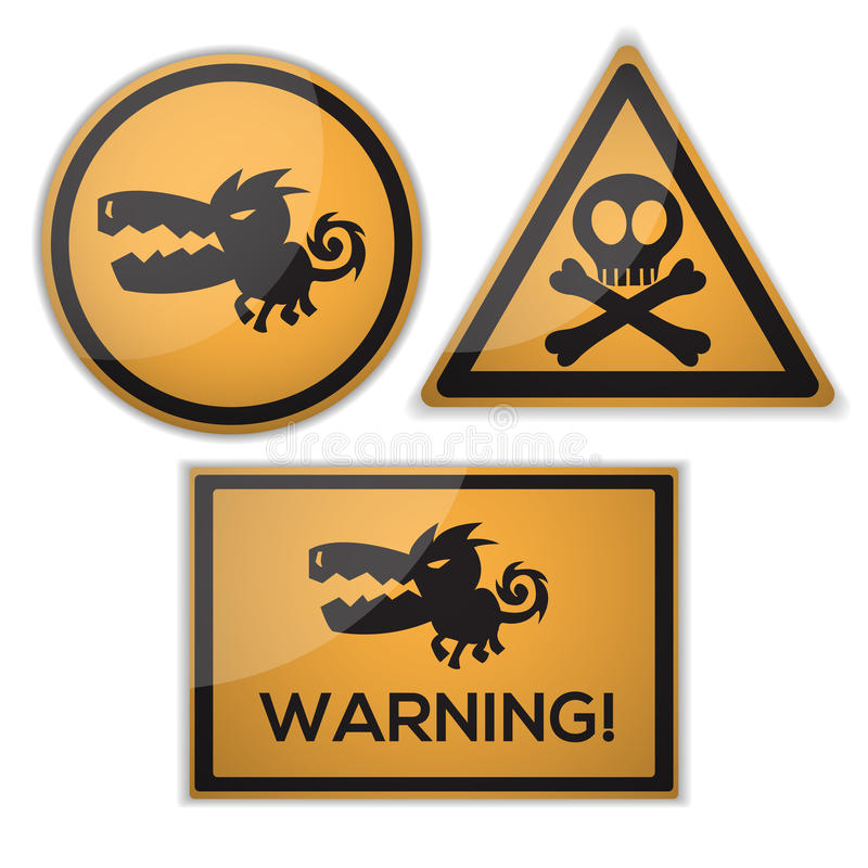 Download Warning signs stock vector. Image of danger, dirty, reflector - 26851299