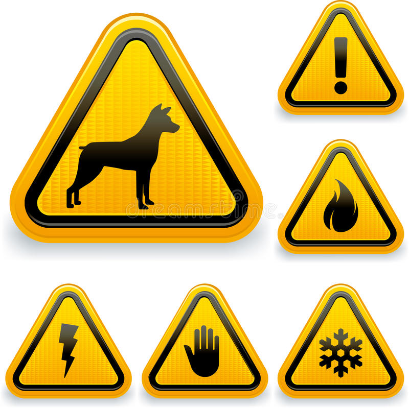 Download Warning Signs Stock Image - Image: 27584371