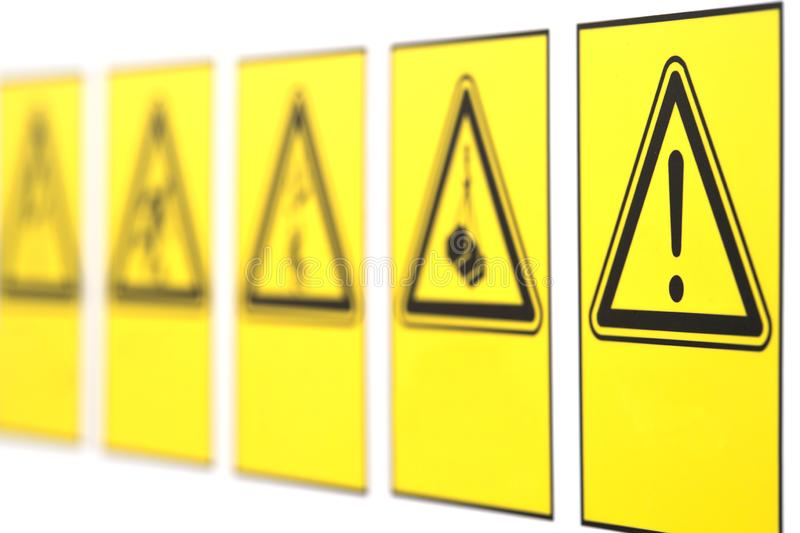 The warning signs in the form of a triangle royalty free stock photography