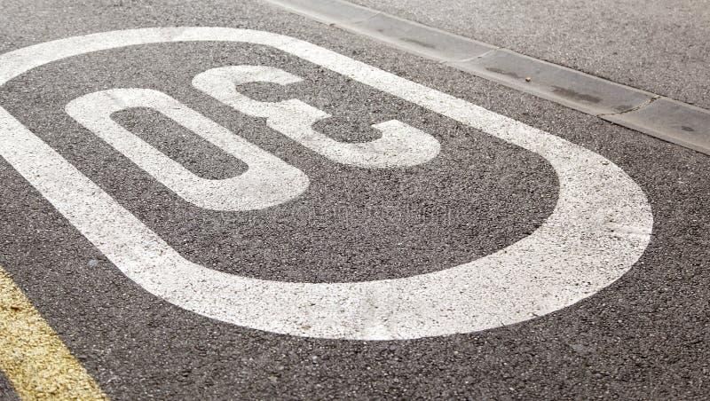 Warning Signs limit. Signs warning to stop at urban road, symbol stock images