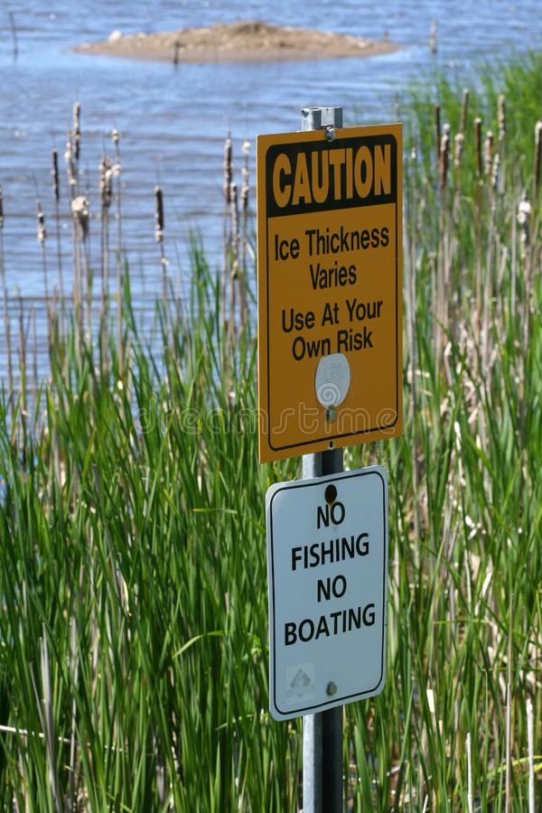 Download Warning signs in marsh stock photo. Image of marsh, dangerous - 5337352