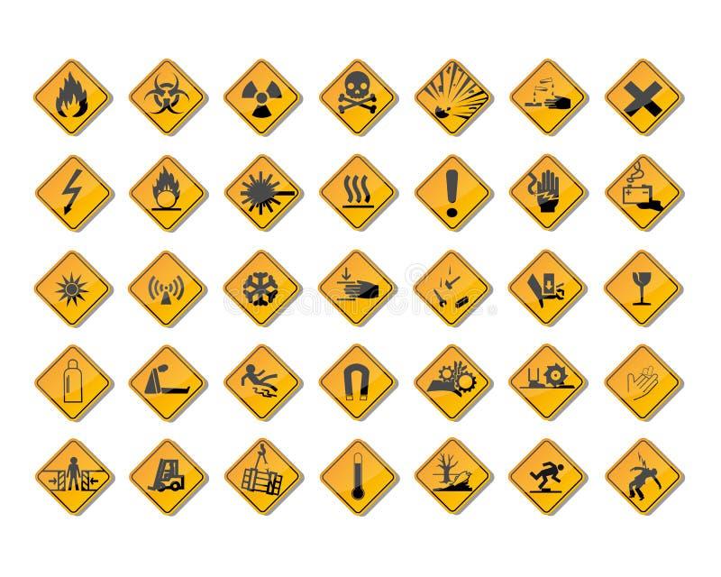 Warning signs royalty free illustration