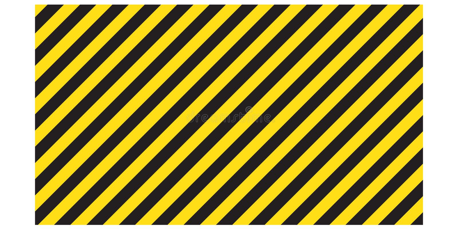 Warning striped rectangular background, yellow and black stripes on the diagonal, a warning to be careful - the potential danger v stock illustration
