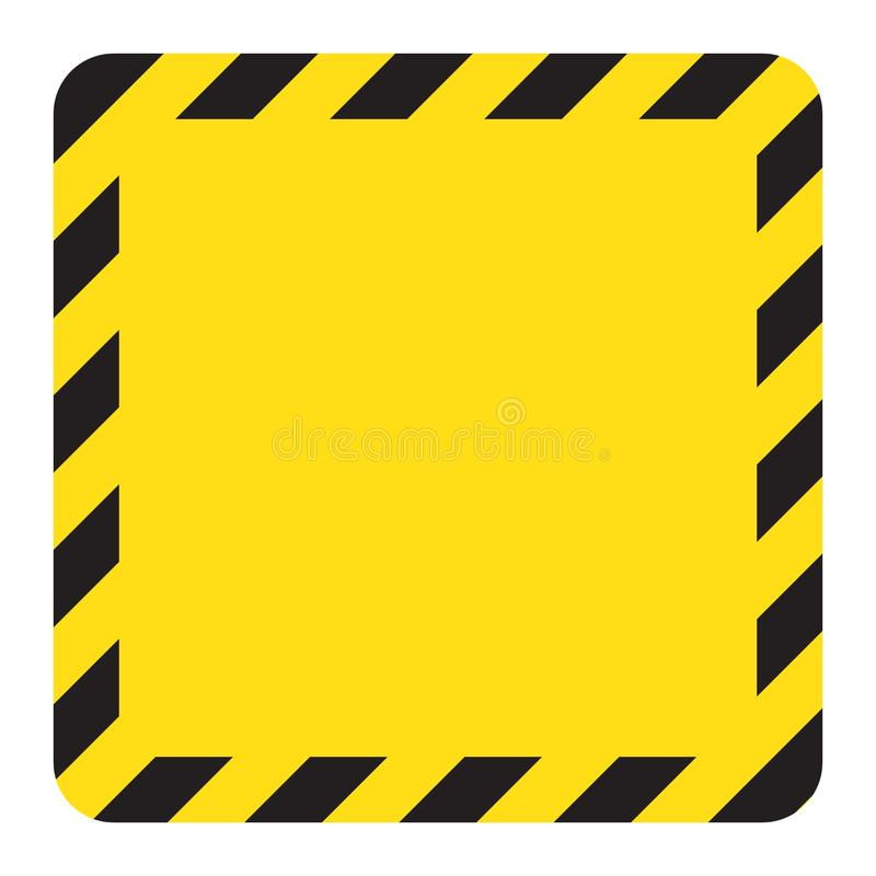 Free Warning Striped Square Backg, Warning To Be Careful, Potential Danger, Yellow & Black Stripes On The Diagonal, Stock Images - 122364214
