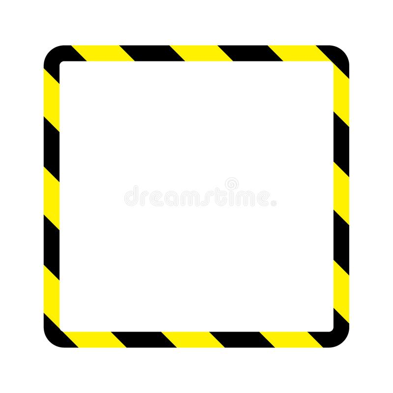 Warning stripes frame stock illustration