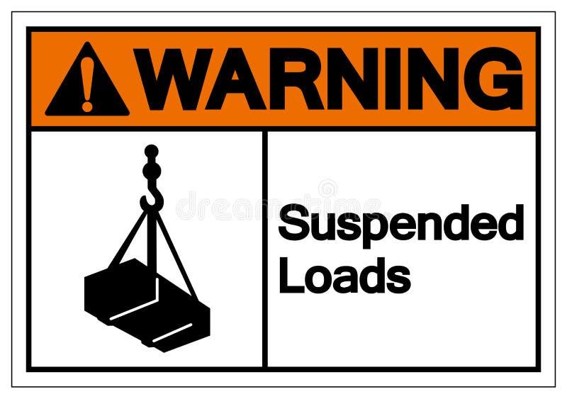 Warning Suspended Loads Symbol Sign, Vector Illustration, Isolated On White Background Label .EPS10 royalty free illustration