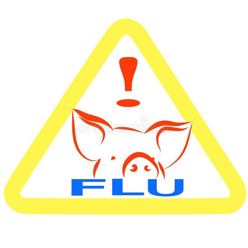 Download Warning swine flu sign stock illustration. Illustration of news - 9200690