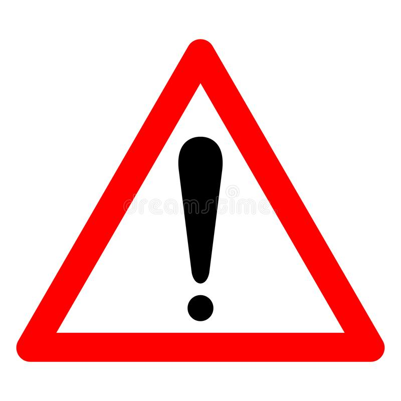 Warning Symbol Sign Isolate On White Background,Vector Illustration EPS.10. Danger, attention, caution, hazard, icon, exclamation, safety, alert, risk, mark stock illustration