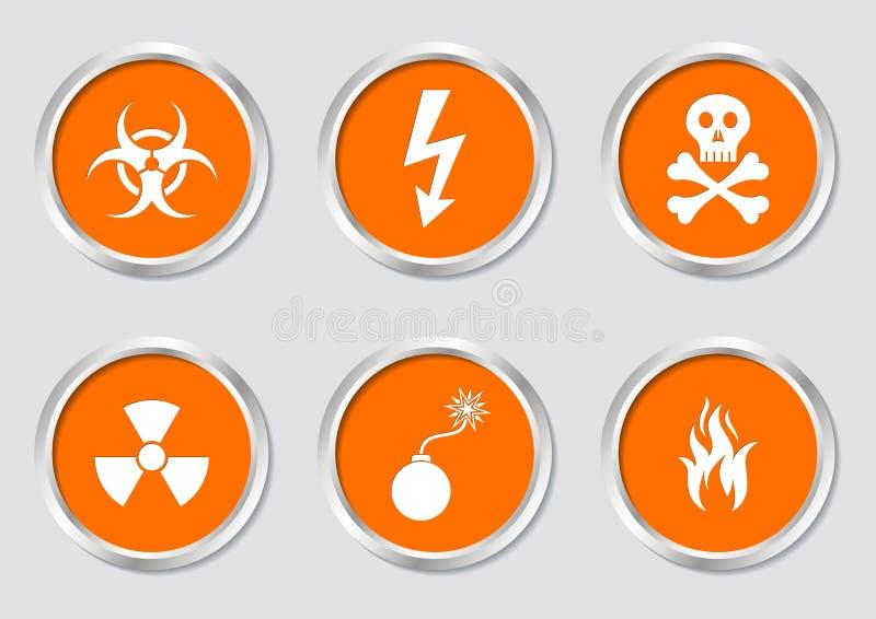 Download Warning symbols stock vector. Illustration of restricted - 39515400