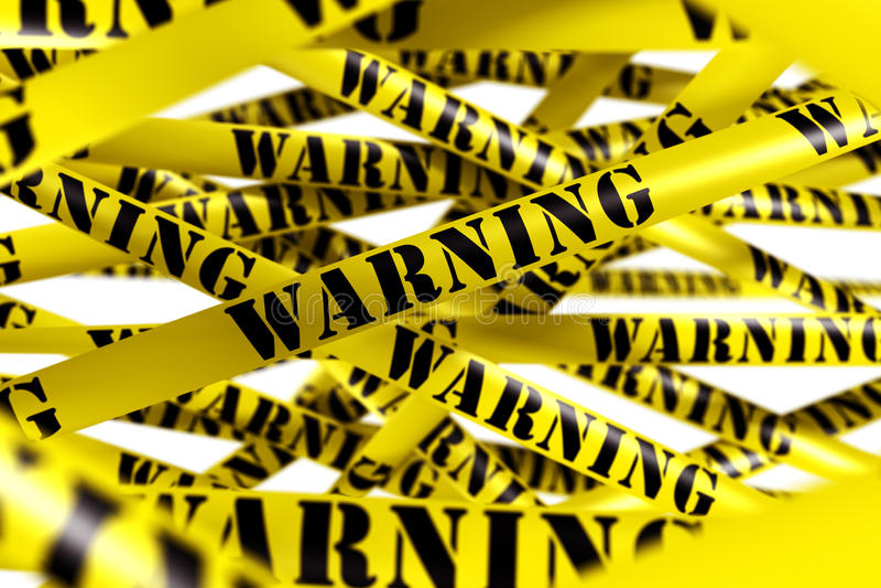 Warning Tape Royalty Free Stock Photography