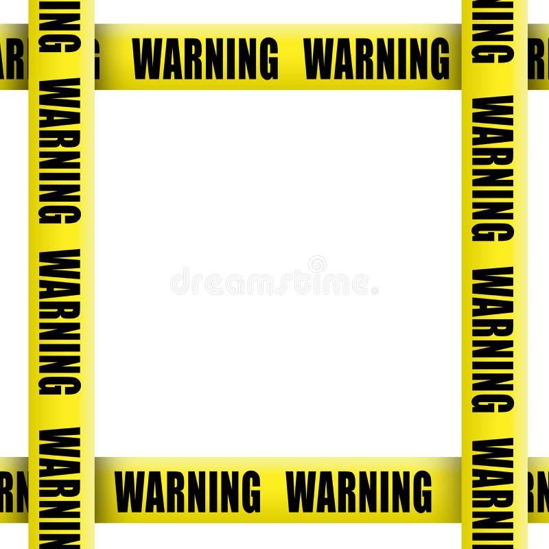Warning tape frame royalty free illustration
