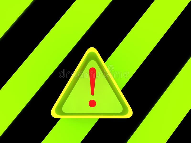 Download Warning triangle signs stock illustration. Image of exclamation - 12556969
