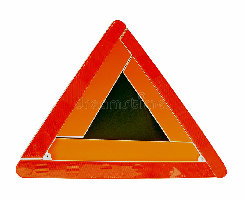 Warning Triangles stock photos