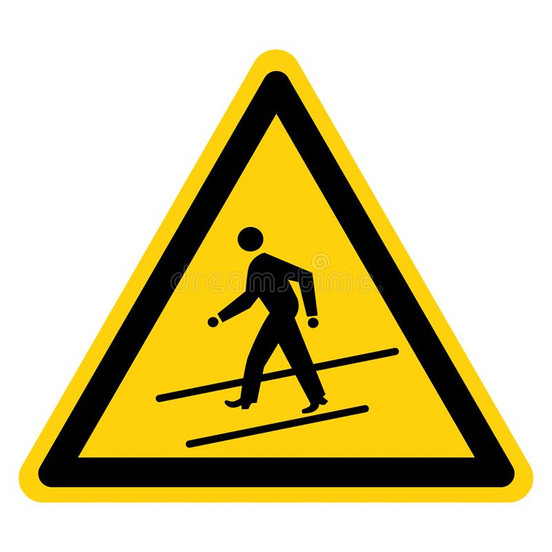 Warning Walk-Way Symbol Sign, Vector Illustration, Isolate On White Background Label. EPS10 vector illustration