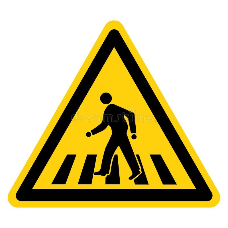 Warning Walk-Way Symbol Sign, Vector Illustration, Isolate On White Background Label. EPS10 royalty free illustration