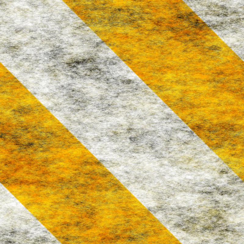 Warning Yellow&White Hazard Stripes stock images