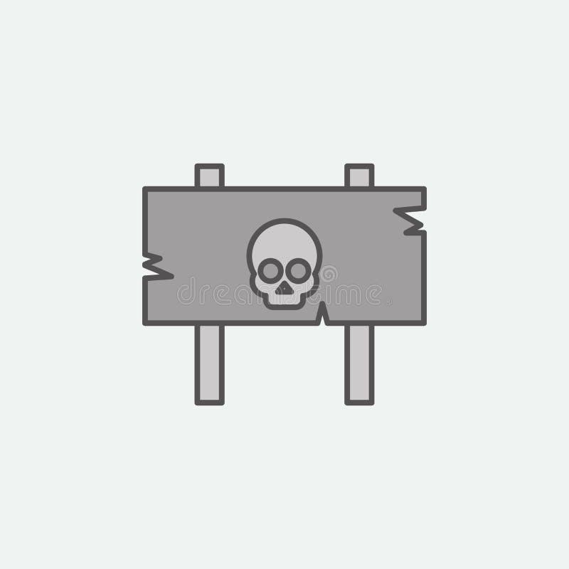 Warnschild für farbige Ikone Halloweens Thema Eine der Halloween-Sammlungsikonen für Website, Webdesign, mobiler App stock abbildung