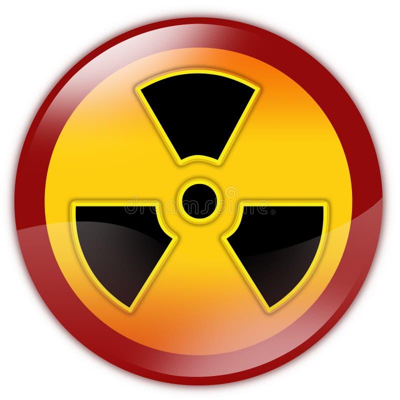 Warnzeichen der Strahlung lizenzfreie abbildung