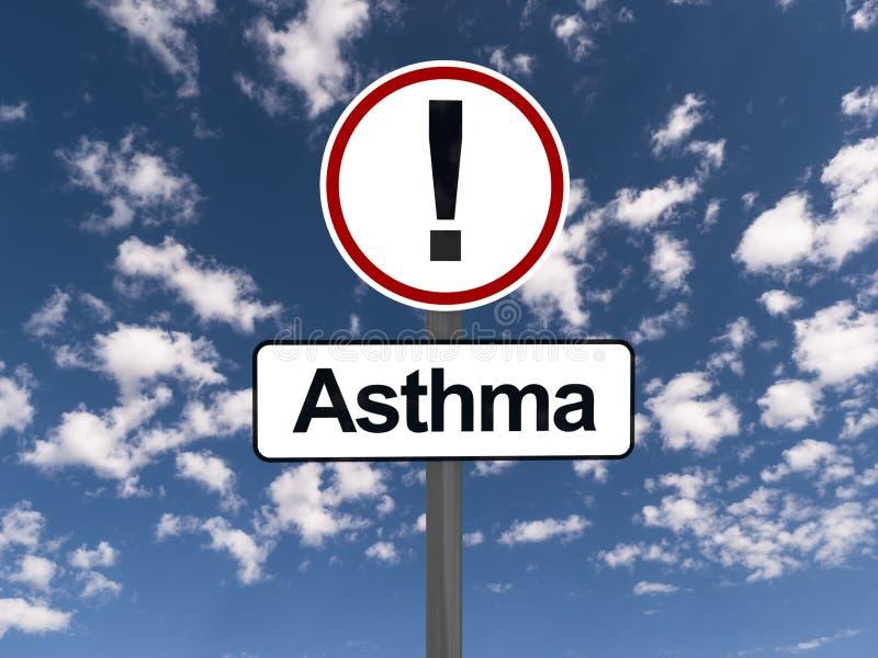 Warnzeichen des Asthmas stockfoto