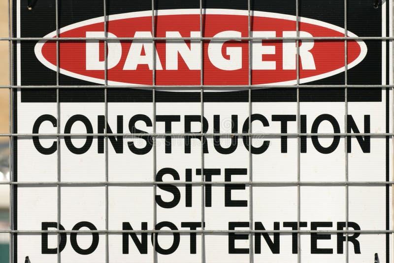 Warnzeichen des Aufbaus lizenzfreies stockfoto