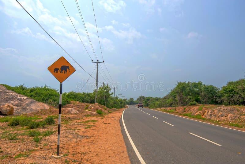 Warnzeichen des Elefanten stockfotos