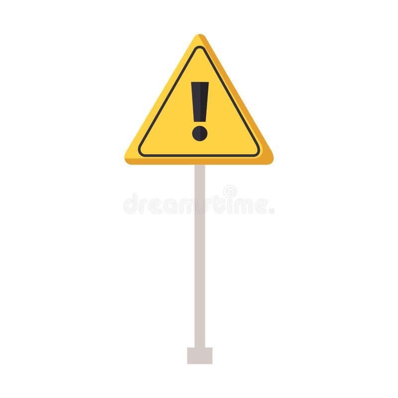 Warnzeichen des Verkehrs stock abbildung