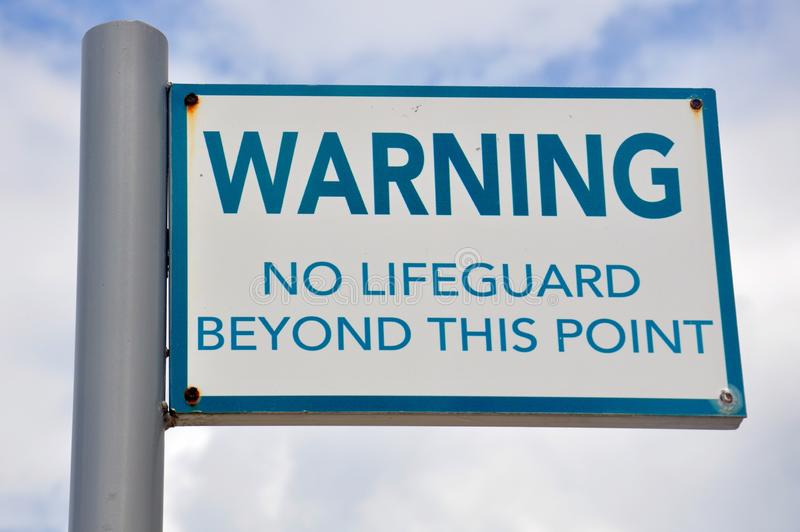 Warnzeichen durch den Royalton-Erholungsort in Jamaika stockfoto