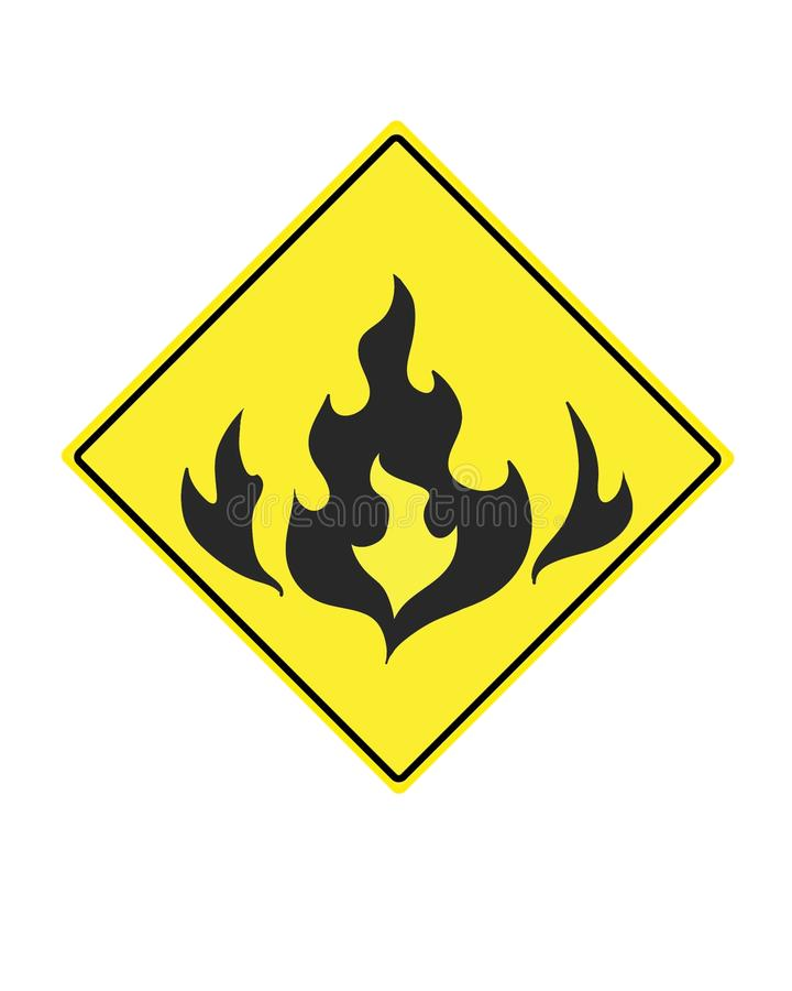 Warnzeichen für brennbare Mittel lizenzfreie abbildung