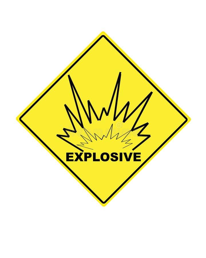 Warnzeichen für explosive Mittel lizenzfreie abbildung