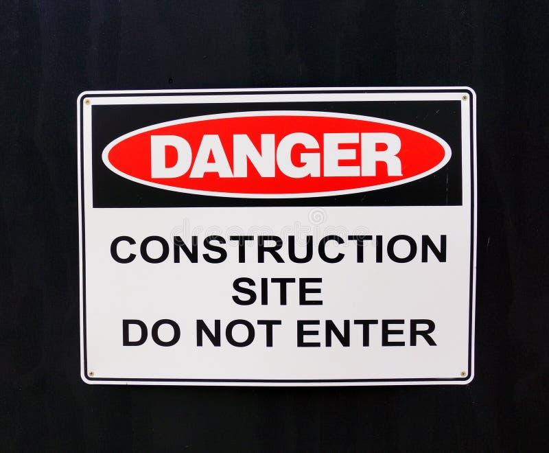 Warnzeichen; Gefahr, Baustelle stockbild