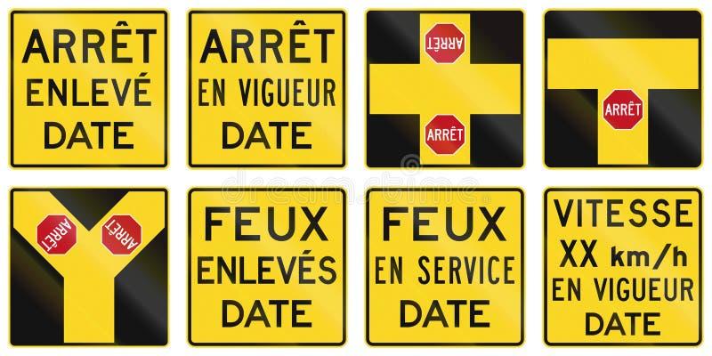 Warnzeichen herein Quebec - Kanada stock abbildung