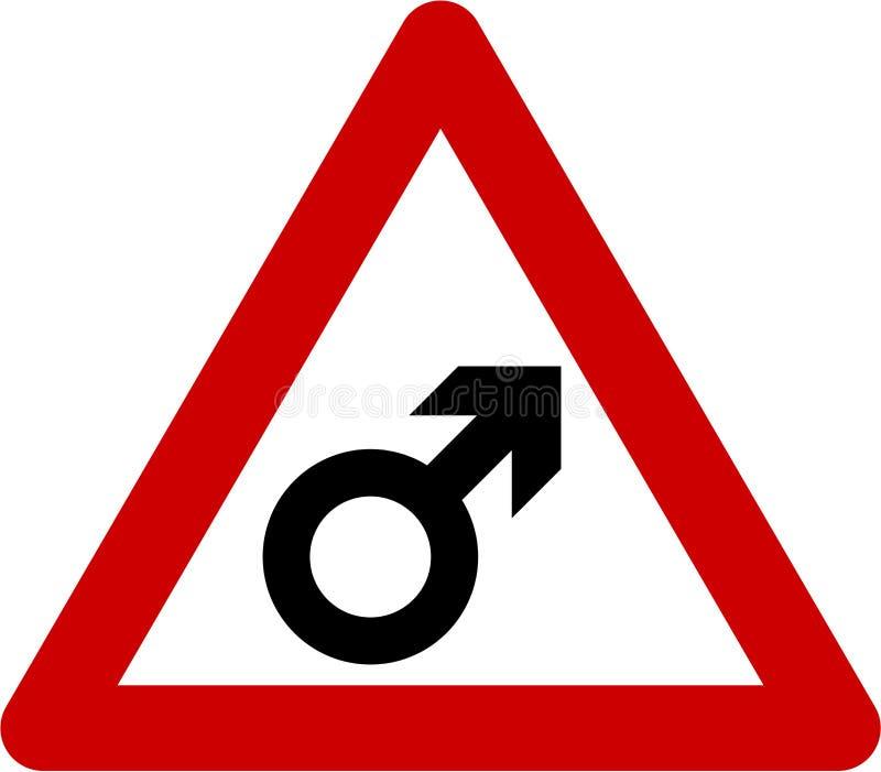Warnzeichen mit Mann vektor abbildung