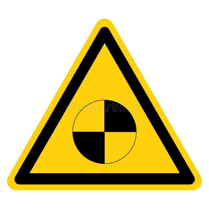 Warnzentrum für das Zeichen des Gravitation, Vektor-Illustration, Isolierung auf dem weißen Hintergrund EPS10 vektor abbildung