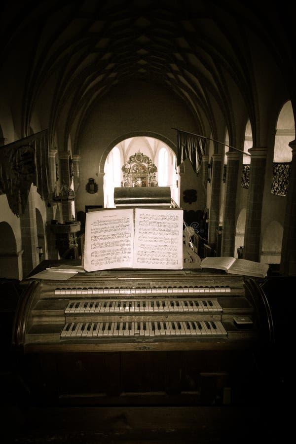 Warowny Ewangelicki kościół Cincsor, Transylvania, Rumunia zdjęcie stock