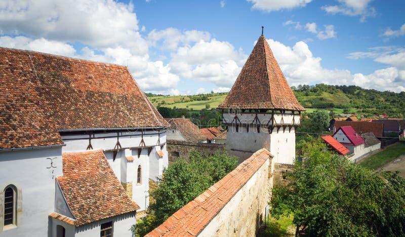 Warowny kościół Cincsor, Transylvania obrazy stock