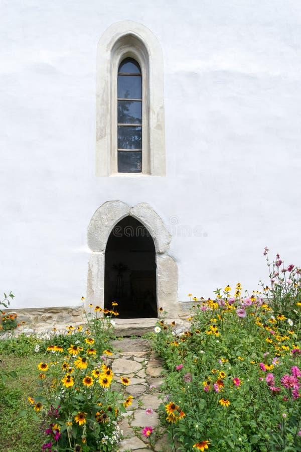 Warowny kościół Cincsor, Transylvania obraz royalty free